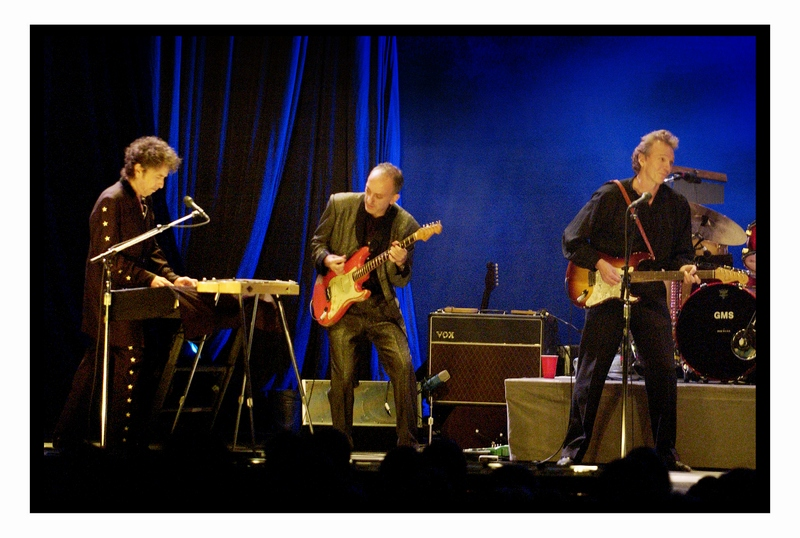 dylan1.jpg -  Performing with Bob Dylan in Oslo, Norway  Oct., 2003